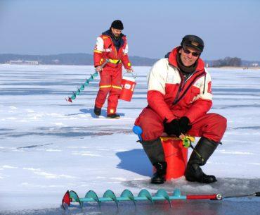 rybaření v zimě